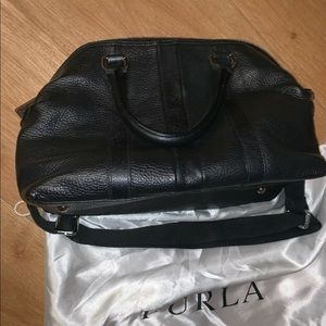 Furla Bags - Authentic Furla Duster And Handbag Black Leather